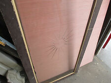 ANTIQUE BEVELED AND ETCHED GLASS WINDOW 23 X 54  ~ SALVAGE ~