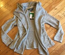 NWT Women's BNCI By Blanc Noir Open Front Knit Cardigan Sweater Size SMALL S