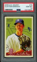 CLAYTON KERSHAW 2008 Upper Deck Goudey #75 RC Rookie (Dodgers) PSA 10 GEM MINT