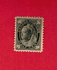 1897  #  66 **  VFNH  TIMBRE CANADA  STAMP  QUEEN VICTORIA MAPLE LEAFS  ISSUE
