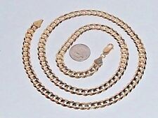 """14K YELLOW GOLD 24"""" CUBAN LINK NECKLACE CHAIN"""