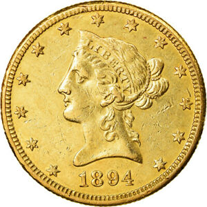 [#881474] Coin, United States, Coronet Head, $10, 1894, New Orleans, AU(50-53)