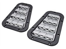 LAND ROVER DEFENDER 90 & 110  XS BONNET VENT SET - BLACK WITH SILVER MESH DA1974