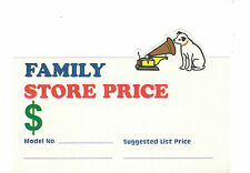 RCA FAMILY STORE PRICE TAG WITH NIPPER & GRAMOPHONE LOGO  MINT CONDITION