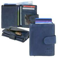 Bear Design Kartenetui Geldbörse Leder Geldbeutel Minibörse Karten blau