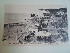 Old Postcard 12 VEAULES-LES-ROSES La Terrasse du Casino Pendant La Musique LL