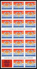 Sc# 3124a 55 Cent Love Swans (1997) MNH BP/20+label P# B1111 SCV $22.00