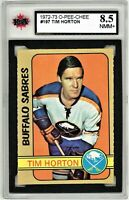 1972-73 O-Pee-Chee #197 Tim Horton Graded 8.5 NMM+ (062319-59)