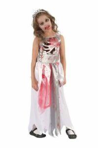 BLOODY ZOMBIE QUEEN COSTUME HALLOWEEN SPOOKY FANCY DRESS GIRLS CHILD KIDS