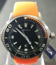 Nautica Round Black Dial Orange Band Men's Watch A95017G - Retail $145 (59% off)