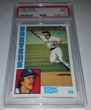 1984 Topps #10 Robin Yount Card Graded PSA 9 Mint Brewers HOF Low Pop