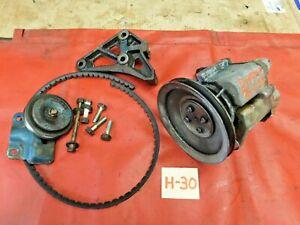 Datsun, Nissan, L 20 Emissions Air Pump, Bracket, & Tensioner Pulley, Original,