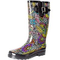 SheSole Womens Gumboots Mid Calf Rubber Rain Boots Shoes AU 10