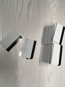 200 Blank White Pvc Magstripe Id Cards .30 Mil
