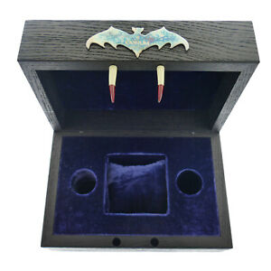 CORUM BUBBLE BATS BLACK WOODEN WATCH PRESENTATION BOX /NAVY BLUE VELVET INTERIOR