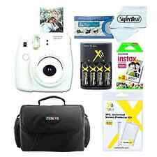 Fujifilm Instax Mini 8 Instant Film Polaroid Camera (White) Bag Case Bundle Set