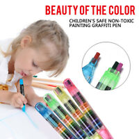 20 Colors Paint Drawing Crayon Pen Kids DIY Art Supplies Painting Crayon 2X/Set