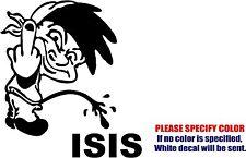 "Calvin Pee Piss on ISIS #2 Decal Sticker JDM Funny Vinyl Car Truck Window 6"""