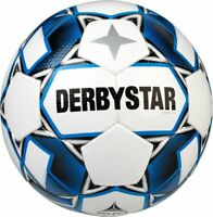 Derbystar Fußball Apus TT weiß blau Gr 5