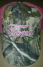 LADIES FORD CAMO/PINK BASEBALL CAP ADJUSTABLE BACK REALTREE NEW