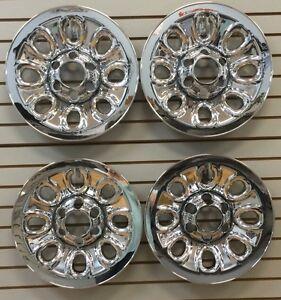 "2005-2013 SIERRA SILVERADO 1500 17"" 8-hole Steel Wheel CHROME Covers Skins"
