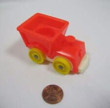 Vintage Fisher Price Little People RIDE ON RED TRAIN BABY NURSERY TOY #656 Rider