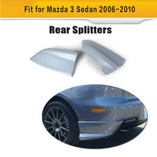 Unpainted Rear Bumper Splitter Bumper Lips Spats Fit for Mazda 3 Axela 2006-2010