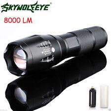 NEW 8000Lumen LED 18650/AAA Flashlight Zoomable Torch Focus Taschenlampen Lamp