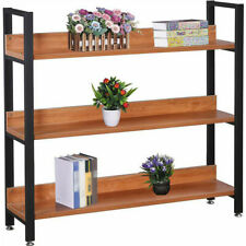 Wooden 3-Tier Shelf Book Shelves Bookcase Organizer Large Display Rack Furniture