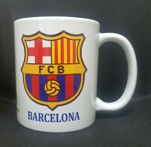 BARCELONA FC  MESSI Coffee mug Taza cup jarro tea Souvenir soccer futbol 11oz.