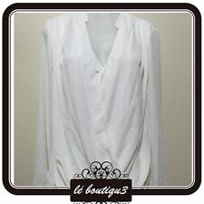 BASQUE Work Office Blouse Top Milk RRP $89.95 Size 12 ( T 8)