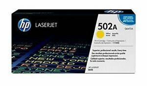 HP Q6472A 502A TONER  ORIGINALE GIALLO LaserJet 3600