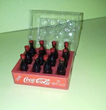 Dollhouse Miniature Doll Case of Coca Cola Plastic Bottles In Red Create Coke