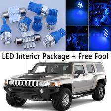 11X Bulb Car LED Interior Lights Package kit For 2006-2010 Hummer H3 Blue NQ