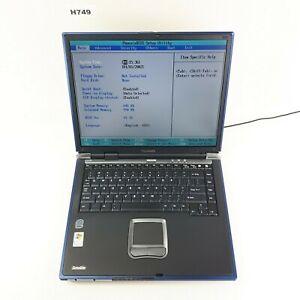 TOSHIBA SATELLITE A30 14'' LAPTOP INTEL CELERON 1GB NO HDD BOOTS TO BIOS H749