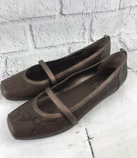 Sbicca Brown Leather Mary Jane Loafer Shoes Casual Comfort Womens 10W