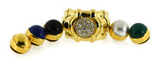 Piaget Interchangeable Diamond 18K Yellow Gold Ring Size 7.5