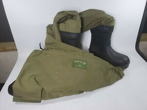 Orvis Men's Fly Fishing Waders MENS SIZE 9 BOOTS Large to XL Chest
