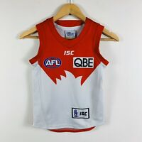 Sydney Swans AFL Jersey Youth Size 8 ISC Sleeveless On Field Home Jersey