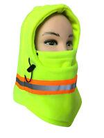 Hi Vis Reflective Fleece Balaclava Hat Ski Motorcycle Full Face Mask Neck Cover