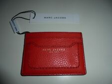 MARC JACOBS RED SMALL/THIN LEATHER CARD/ID WALLET - NWT