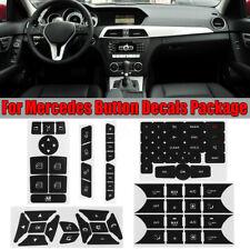Steering Steel Radio Window Control Button Repair Decals Stickers For Mercedes