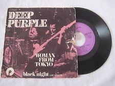 Vinyle 45t DEEP PURPLE Woman from tokyo, Black night