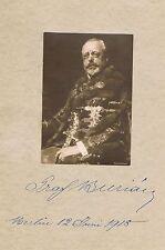 Austria Hungary Count Stephan Burián 1851-1922 genuine autograph signed card