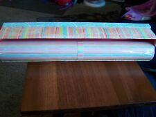 New Tina Higgins Tri-Coastal Design Drawer Liners Lining Paper Pastel Striped