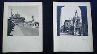 Grandes photos Italie années 50 Rome Pont Saint-Ange signées