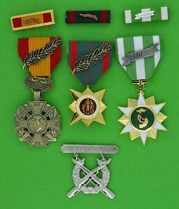Medals Vietnam Gallantry Cross, Civil Action, Campaign, Expert Rifle Badge