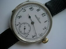 Rare Jaeger LeCoultre high grade solid silver just full serviced perfect working