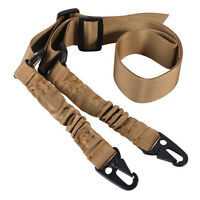 2Two Point Rifle Sling Adjustable Hunting Bungee Tactical Shotgun Strap