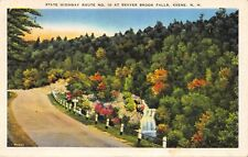 Keene New Hampshire~State Highway Route #10 at Beaver Brook Falls Postcard 1939